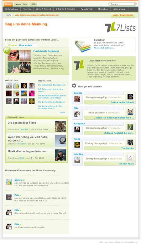 Startseite_7Lists